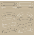 Old ribbon banner black and white eps10 vector image vector image