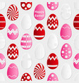 easter eggs design from color paper pattern vector image