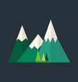 mountain nature outdoor icon snow ice tops travel vector image