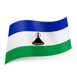 State flag of Lesotho vector image vector image