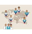 Business concept of management remote service and vector image vector image