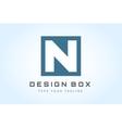 N logo icon template monogram vector image