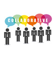 coaborative people design vector image