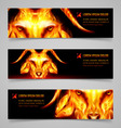 Goat fire banners vector image
