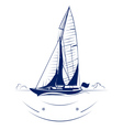 speed yacht insignia vector image vector image