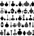collection of handmade vases with ethnic ornament vector image vector image