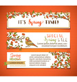 set of bright horizontal spring banners vector image