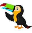 cartoon happy bird toucan vector image