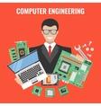 Computer Engineering Flyer vector image