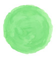 delicate green watercolor painted stain vector image