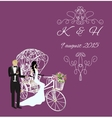 elegance vintage bride and groom vector image