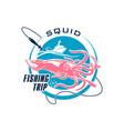 fishing sport round symbol design vector image