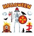 Halloween graveyard Cartoon vector image