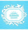 Happy summer holidays background vector image