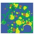 molecules virus green vector image