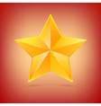Realistic five-pointed star vector image