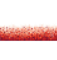 Pixel red Background for card or poster - isolated vector image