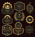 set of labels templates in baroque style vector image vector image