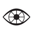 black eye icon vector image