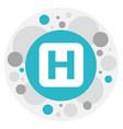 Of journey symbol on hospital vector image