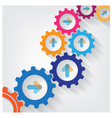 Color Gears Infographics vector image