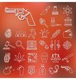 crime and justice outline icons vector image