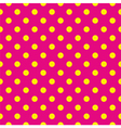 Tile pattern yellow polka dots pink background vector image