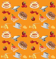 background with pancakes vector image