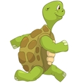 Funny Turtle Running vector image