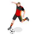 Soccer 2016 Sports Isometric 3D vector image