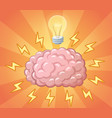 brain and ligh bulb as idea concept vector image