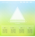 Bright interface for the Web and mobile site vector image