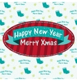 Christmas greeting card with a sock vector image