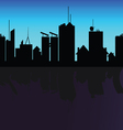 city black silhouette shadow on river vector image