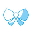 decorative bow icon vector image