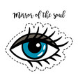 fashion patch element woman eye vector image