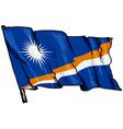 flag of Marshall Islands vector image