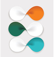 Modern design from spiral banners Can be used for vector image