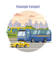 urban public passenger vehicles template vector image