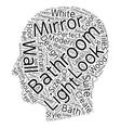 Bathroom mirrors the perfect ensemble text vector image