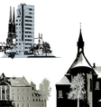 Set of few buildings - Cityscapes vector image vector image
