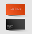 Modern minimalistic business card template vector image