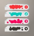 Empty Paper Labels with Bent Corners and Splashes vector image