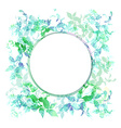 Spring background wreath with green mint leaves vector image