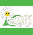 Caring daisy vector image