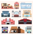 Cinema building set vector image