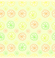 citrus lemon lime seamless pattern on green vector image