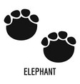 elephant step icon simple style vector image