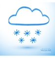Felt pen drawing of snowy cloud vector image