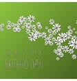 Floral card with chamomiles for Mothers day vector image